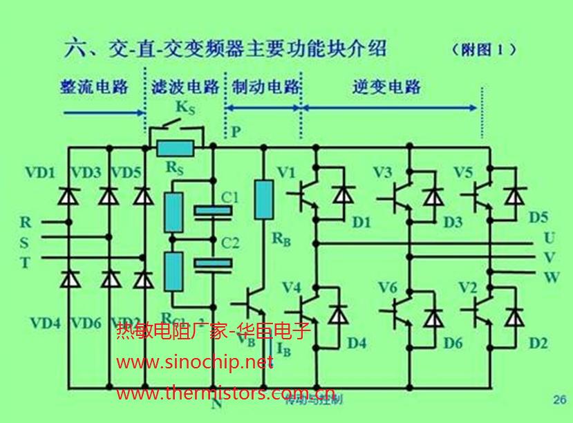 电路中使直流母线(滤波电容两端)电压ud不断上升
